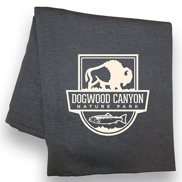 DOGWOOD CANYON CHARCOAL THROW